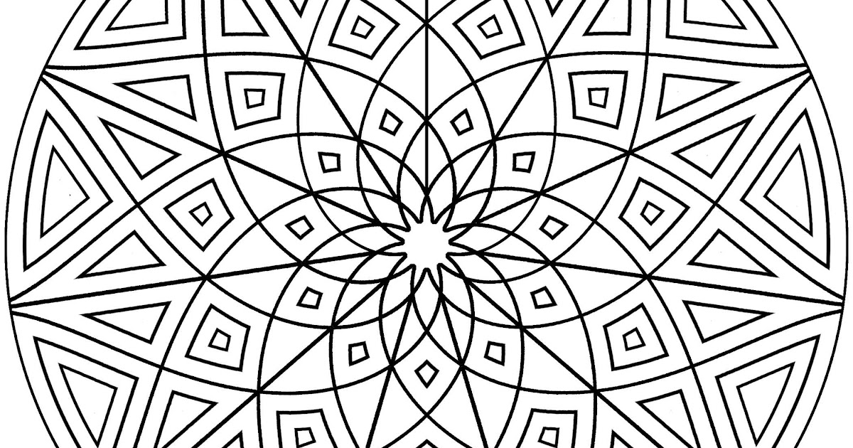 Geometric Design Frog Coloring Pages