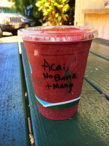 Organic Coconut Cup Juice Bar and Cafe Kapaa Kauai Hawaii Acai