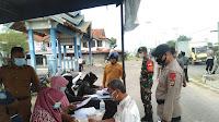 Brimob Polda Aceh bersama Tim Gabungan Jaring Pelanggar Prokes di Kota Lhokseumawe
