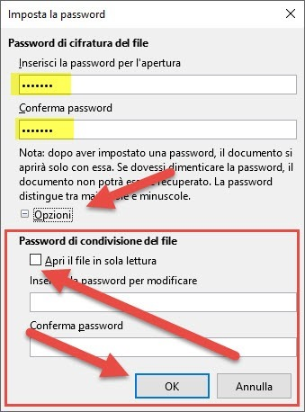 libre office password