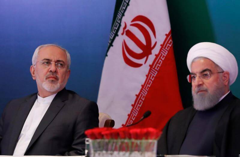 Iran President Hassan talking about renewing nuclear energy. PHOTO | REUTERS