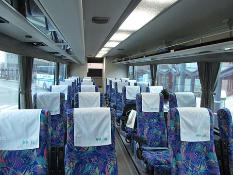 道北バス「ノースライナー」 1058 車内