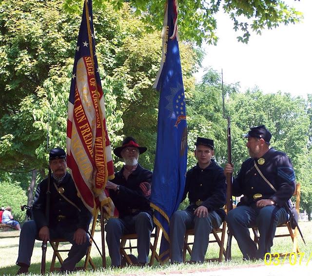 5th MI Color Guard at Mill Race, Northville MI