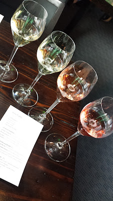 Flight of sparkling wine, one of two flights you can choose from at Muselet