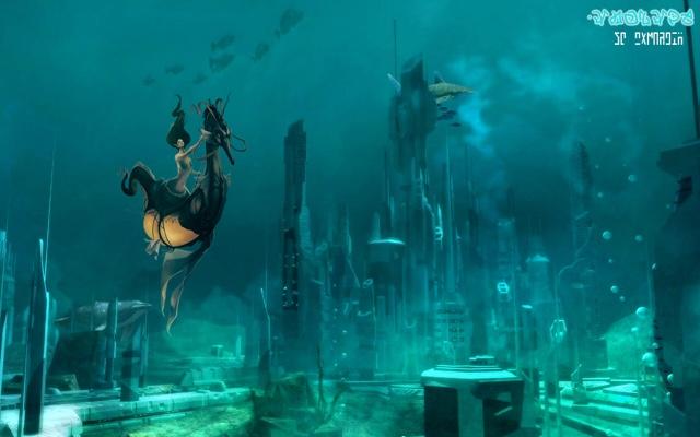 Lukisan Atlantis, kota yang hilang