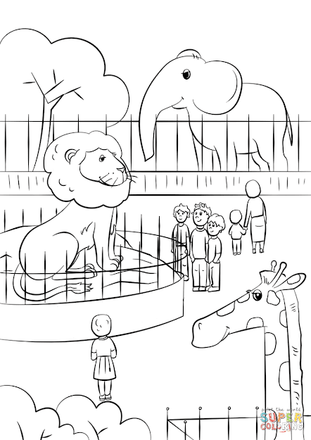 Click The Zoo Animals Coloring Pages To View Printable Version Or Color It  Online Patible With Ipad And Android Tablets