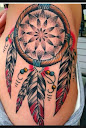 dreamcatcher tattoos on side 5