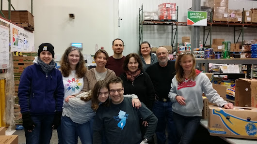 South Jersey Humanists @ Community Food Bank of NJ on Valentine's Day