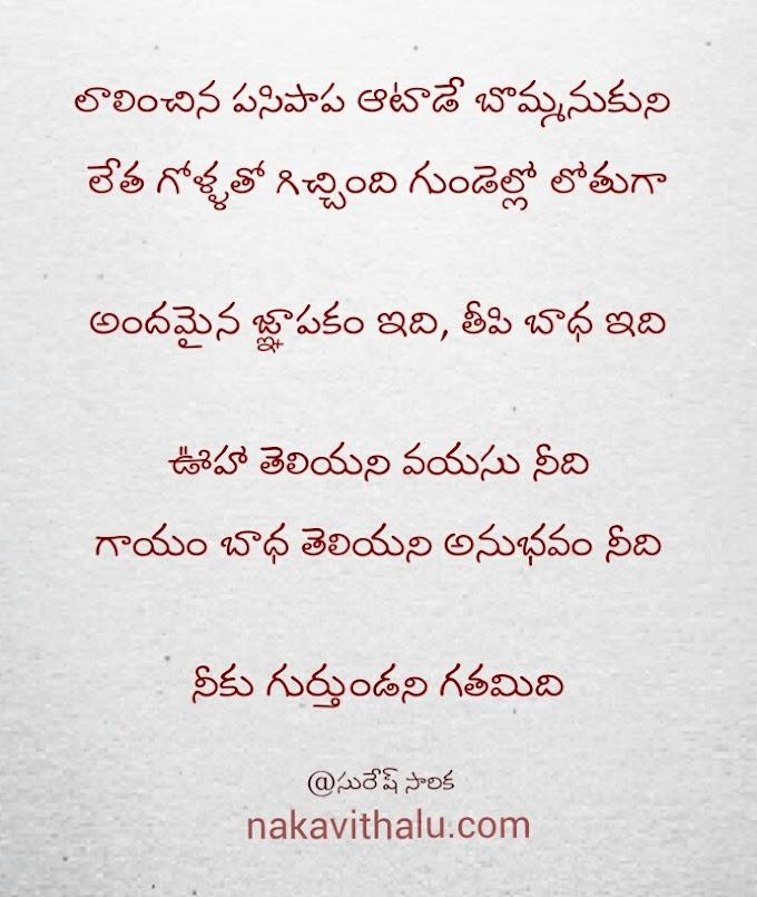 నీకు గుర్తుండని గతం-Telugu kavithalu