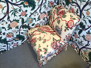 Custom Floral Slipper Chair 2