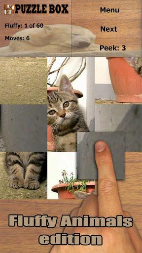 可爱的动物:拼图方块