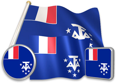 French Southern Territories  flag animated gif collection