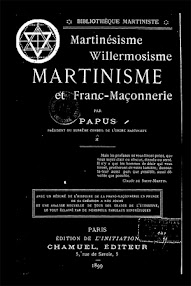 Cover of Papus's Book Martinisme et Franc Masonnerie (1899,in French)