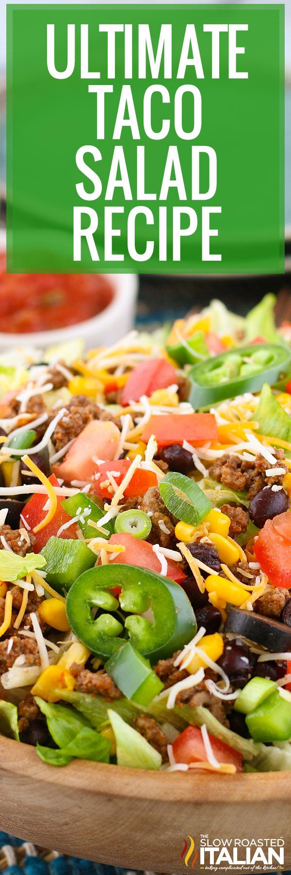 taco salad recipe collage