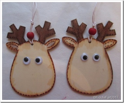 Wooden Rudolph Christmas Tags