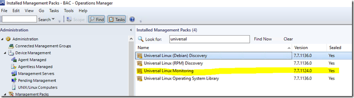 My Systems Center Encounter: SCOM 1807 Universal Linux