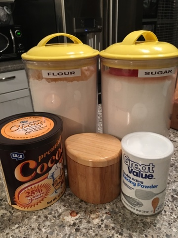 Mug Cake dry ingredients