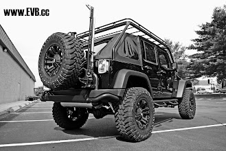"""Photo: AEV 3.5"""" Lift Kit  35"""" Toyo M/T  18"""" XD Monsters AEV Rear Bumper and Tire Carrier Hi-Lift Mount with Jack"""
