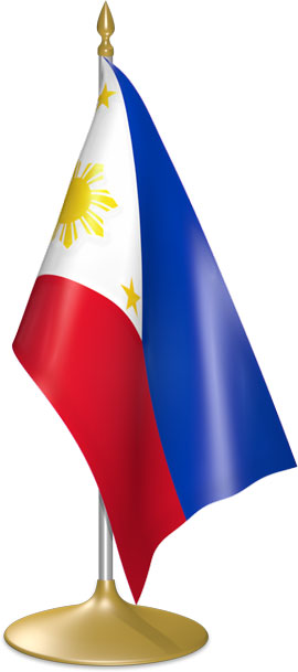 Philippine table flags - desk flags
