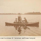 Bill Sanderson and Forrest Campbell on Orchard Lake Circa 1900