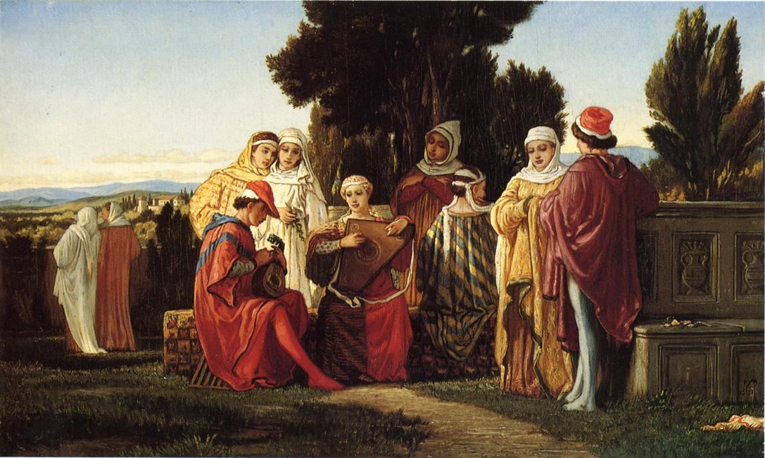 Elihu Vedder - The Music Party
