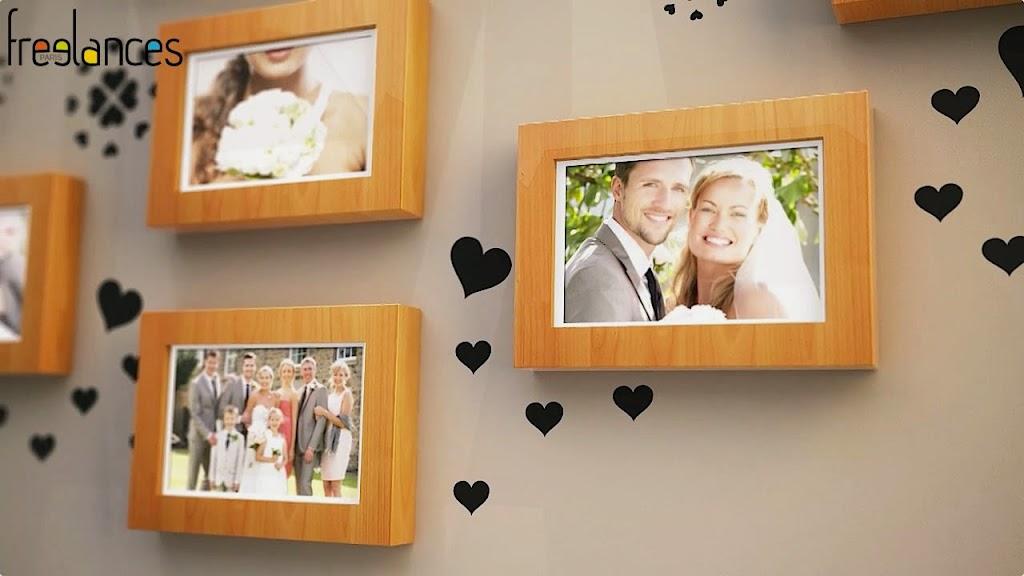 diaporama vidéo mariage modèle cadres photos photo focalisation 05