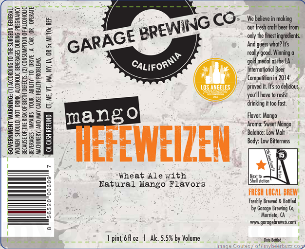 Garage Brewing Mango Hefeweizen