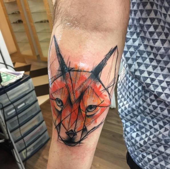 este_esboço_colorido_estilo_fox