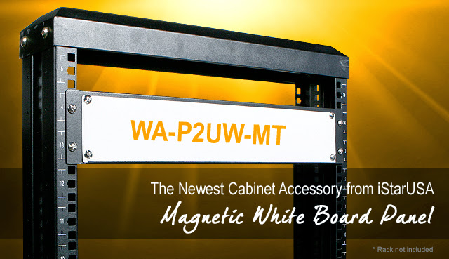 WA-P2UW-MT 2U Magnetic White Board Panel