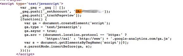 UA tracking code example 1