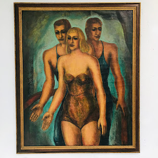 Martin Rosenthal Signed 'Aerialists' Oil Painting
