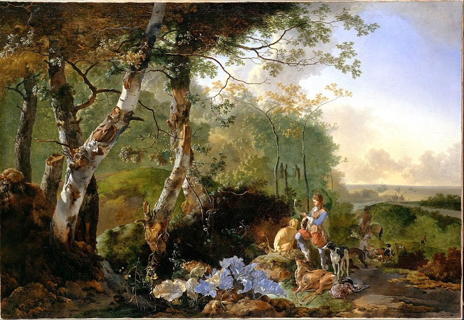 Adam Pynacker - Landscape with Sportsmen and Game - Google Art Project