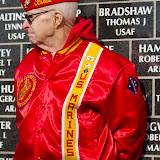 Retired Sargent Paul Coolidge of the U.S. Marine Corps rests against the Montana Veterans Memorial in Great Falls. Coolidge is a veteran of the Korean War and a member of the Marine Corps League. Photo by Jake England.