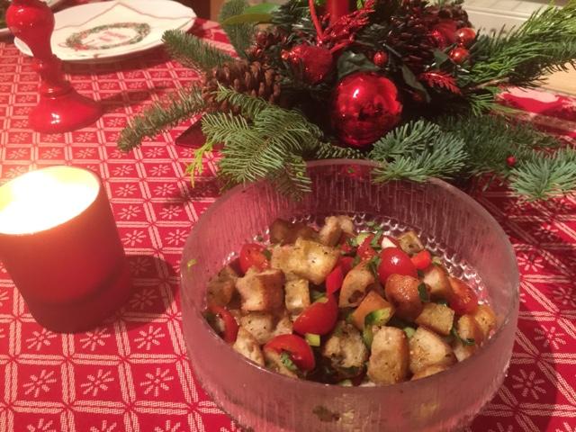 Italian panzanella bread salad