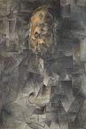 Pablo Picasso: Ambroise Vollard portréja, 1909-1910, olaj, vászon, 93 x 65 cm (Fotó: © Puskin Múzeum, Moszkva © 2016 – Succession Pablo Picasso – HUNGART)