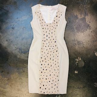 Lela Rose Fille Beaded Sheath Dress