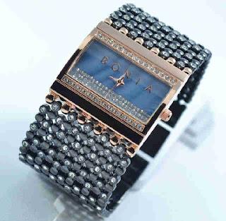 Jual jam tangan Bonia biji lada black rosegold