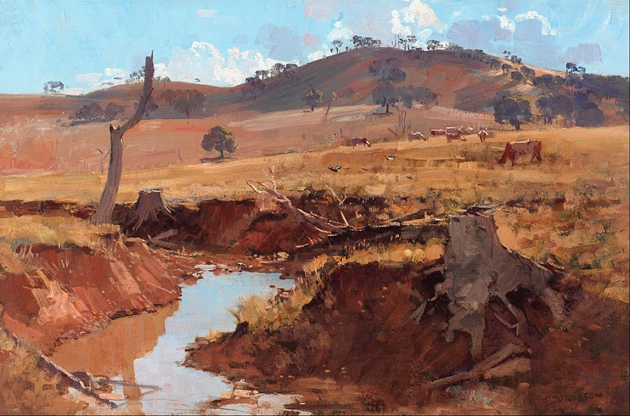 Arthur Streeton - The creek