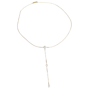 18K Gold and Pearl Pendant Necklace