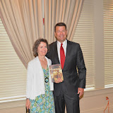 2015 Gina Gregory presents keynote speaker the newly published Arcadia Press book, West Bloomfield & the Tri-Cities by Ron Gay.