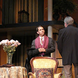 James Dick and Richard Harte in THE ROYAL FAMILY (R) - December 2011.  Property of The Schenectady Civic Players Theater Archive.
