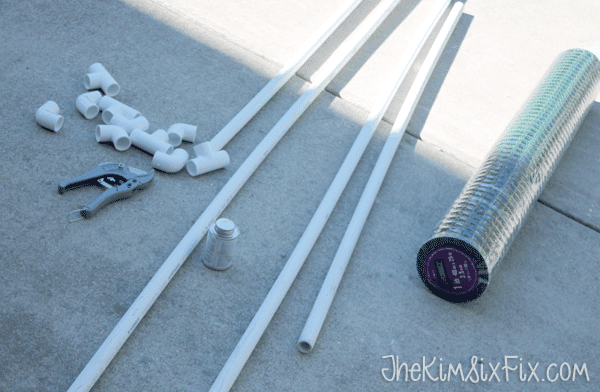 Supplies for pvc soccer goal