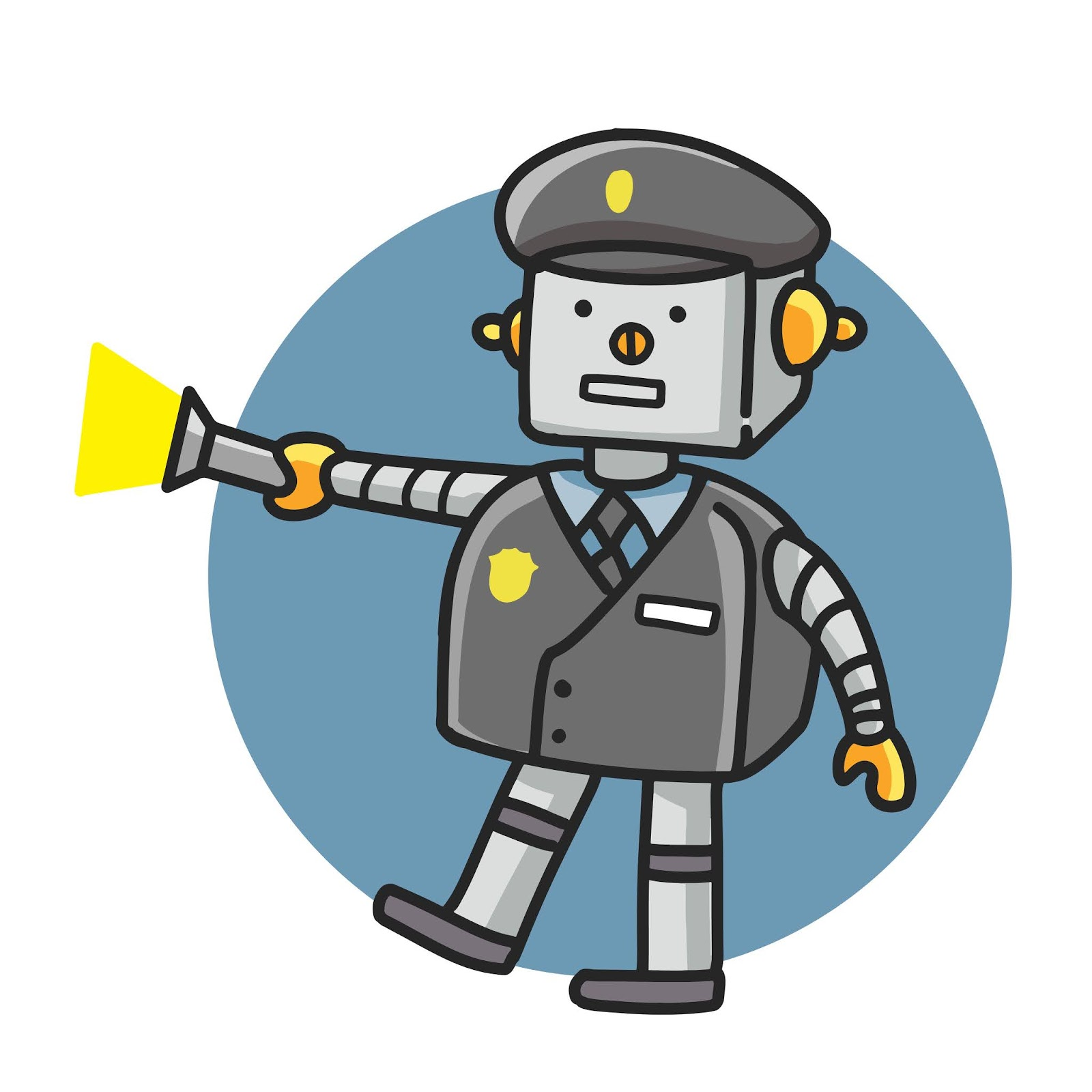Police Robot Cartoon Doodle Style Drawing	 Free Download Vector CDR, AI, EPS and PNG Formats