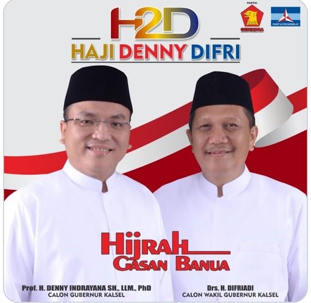 Paslon Denny - Difri Unggul Diantara 8 Kabupaten/Kota di Kalsel