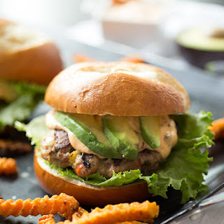Southwest Turkey Burgers with Chipotle-Lime Aioli.