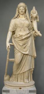Tykhe-Tyche was goddess of good fortune - Greek-Roman Statue