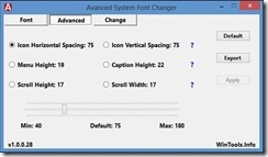برنامج تغيير خط الويندوز Advanced System Font Changer 1.0.0.28 -2