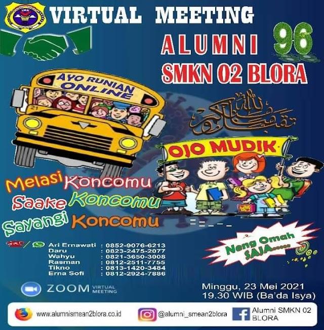 Reunian Online Bareng alumni 1996 SMKN 2 Blora, Hindari Covid-19