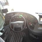 Het dashboard van de Mercedes Tourismo van Van Fraassen Travelling bus 490