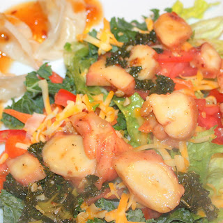 Healthy Octopus and Kale Salad.